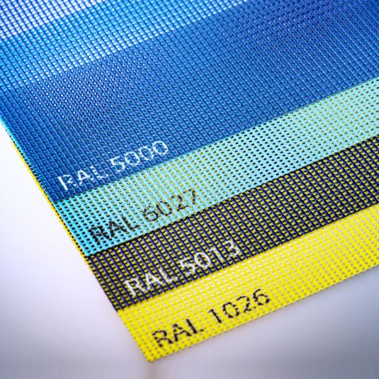Fabrics printed in solid (RAL) colors - Printable